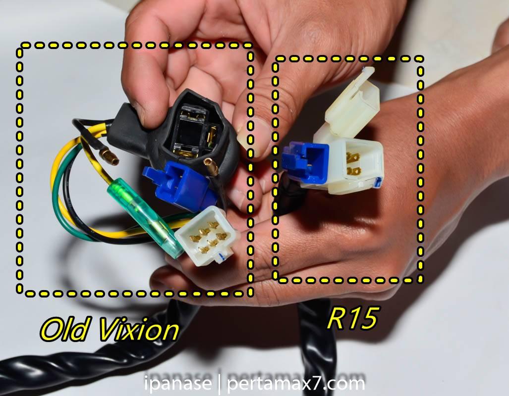mematikan AHO Yamaha R15 dengan saklar Old Vixion 15