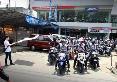 Peserta X-Ride Touring Tangguh Luar Biasa start dari Dealer Mekar