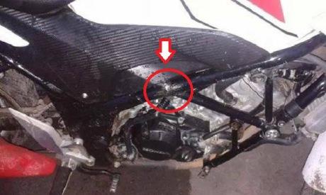 Rangka Tralis Honda CB150R patah 1