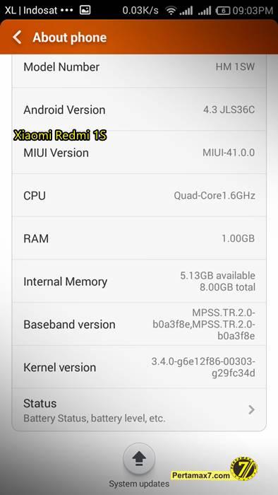 Screenshoot Xiaomi Redmi 1S 4