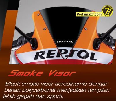 smoke visor honda CBR150R indonesia