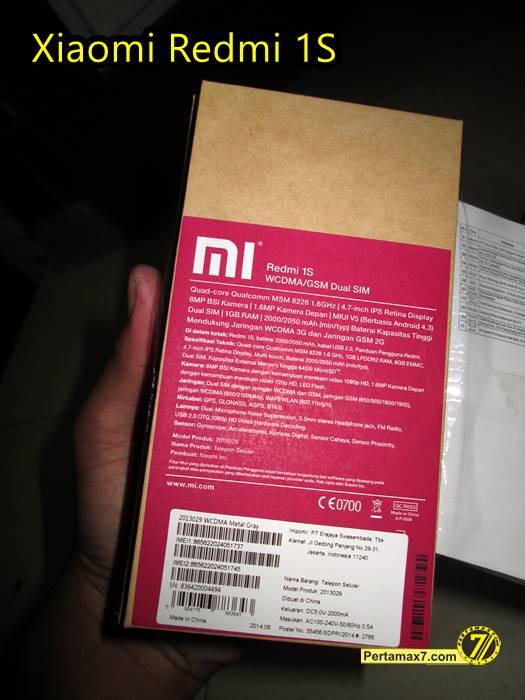 Unboxing Xiaomi Redmi 1S Lazada Pertamax7 8