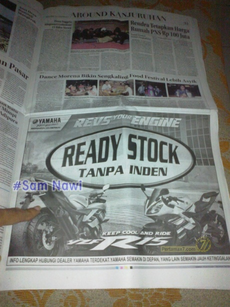 yamaha r15 ready stock di malang