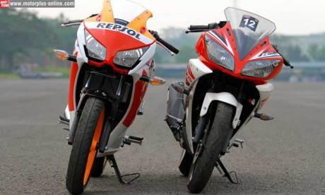 adu muka honda CBR150R lokal vs Yamaha R15