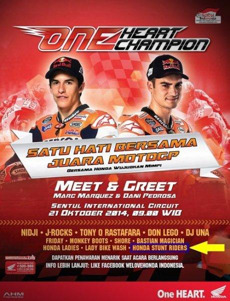 AHM Ajak 150 Rider Honda All New CBR150R lokal yang beruntung untuk Meet N Greet bersama Dani Pedrosa & Marquez 21 Oktober 2014 di Sentul 0