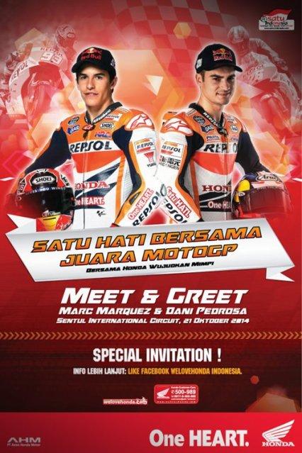 AHM Ajak 150 Rider Honda All New CBR150R lokal yang beruntung untuk Meet N Greet bersama Dani Pedrosa & Marquez 21 Oktober 2014 di Sentul 2