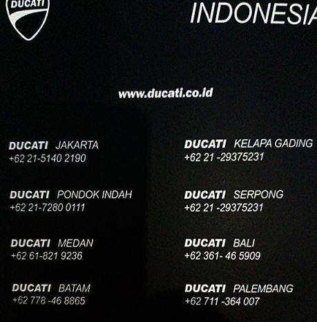 dealer resmi ducati Indonesia