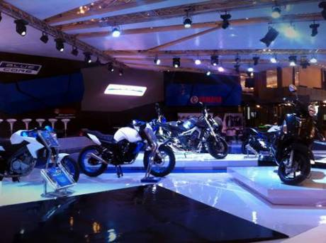 Display motor Yamaha di Indonesia Motorcycle Show