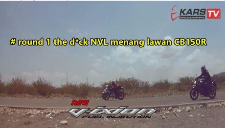 ganti rider yamaha new vixion menang vs hnda CB150R round 1