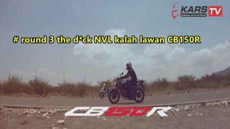 ganti rider yamaha new vixion menang vs hnda CB150R round 3