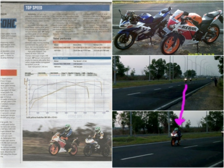 honda CBR150R vs Yamaha R15 di suramadu