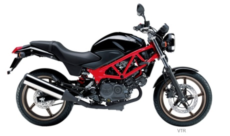 Honda VTR 250 2014 black