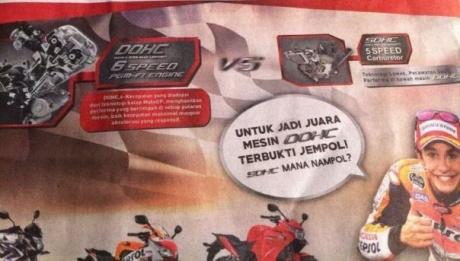 iklan Honda Untuk Jadi Juara Mesin DOHC Terbukti Jempol, SOHC mana Nampol