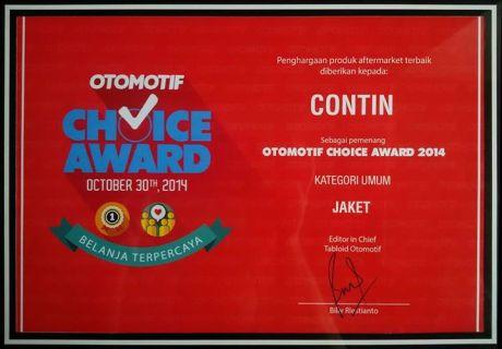 Jaket contin menangkan otomotif choice award