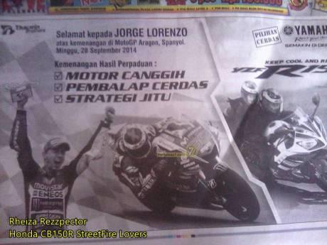 kemenangan pertama jorge lorenzo motogp 2014