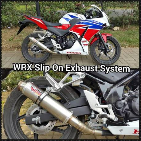 knalpot racing WRX slip on buat all New Honda CBR150R lokal