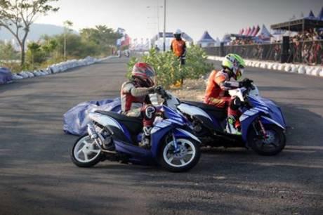 Kualifikasi Seri 8 Yamaha Cup Race di area Pantai Donggala Sulawesi Tengah