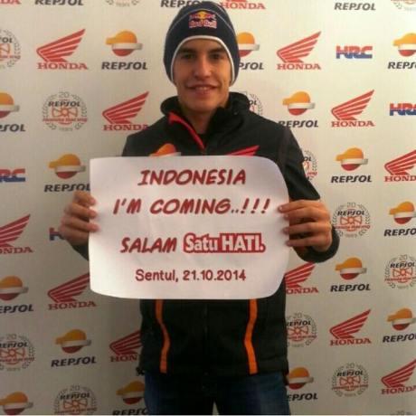 marquez goe to Indonesia 21 oktober 2014
