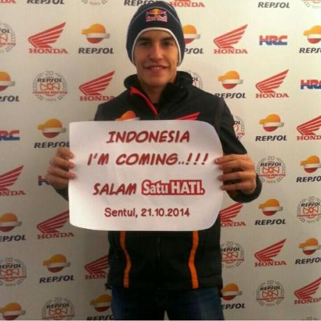 marquez goe to Indonesia 21 oktober 2014