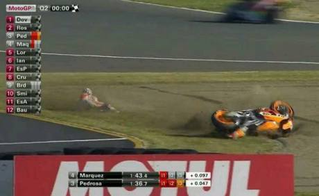 marquez rc213v motegi crash qtt