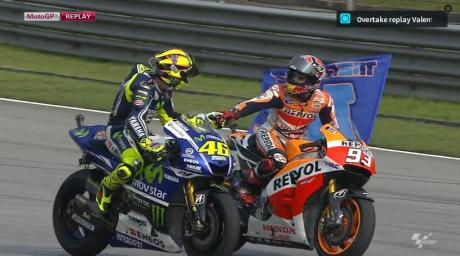 marquez won motogp sepang 2014 with valentino rossi