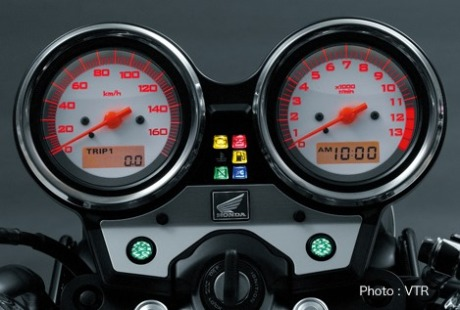 meter console Honda VTR 250 2014 analog gauge