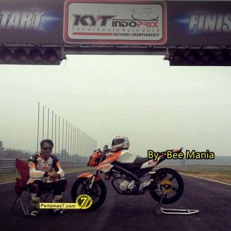persiapan yamaha new Vixion Hendra rusbule jelang IRS SPORT seri 4 Skyland pertamax7.com 1