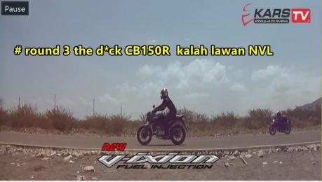 round 3 honda CB150R kalah lawan yamaha New Vixion