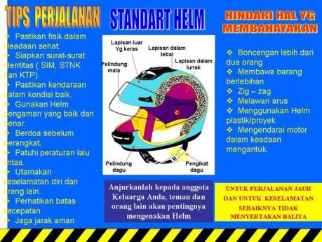 tips safety riding dan pakai helm dengan benar
