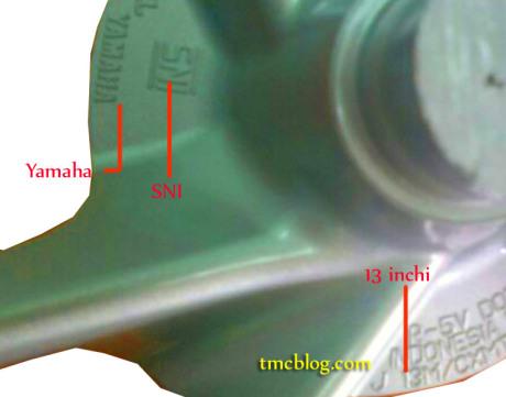 velg yamaha 2DP 13 inchi