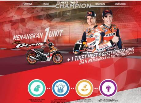 Welovehonda Adakan Kuis berhadiah Honda Blade 125 + tiket Meet n greet bareng Marquez n Pedrosa