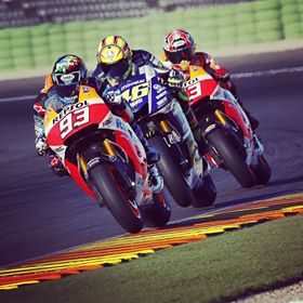 Alex marquez with Marc Marquez test Honda RC213V Valencia 2014 3