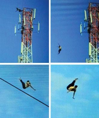 Anak SMP terjun dari BTS setinggi 80 meter di pasuruan