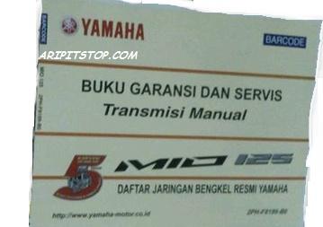 buku service yamaha mio 125