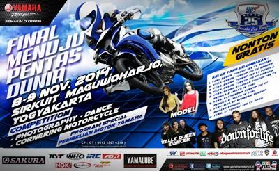 Final Yamaha Cup Race di area Stadion Maguwoharjo Yogyakarta