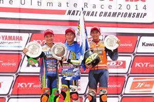 Fitriansyah Kete double winner Indoprix 2014 di atas podium