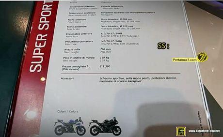 Harga yamaha R3 di Eropa 2