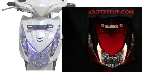headlamp honda beat fi vs Yamaha Mio 125 blue core
