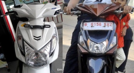 Honda Beat VS Yamaha Mio 125 blue core