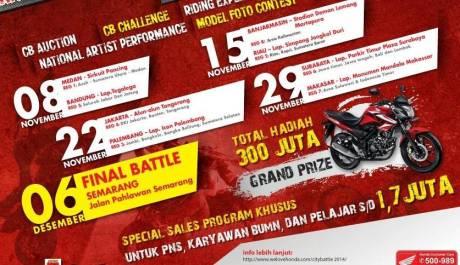 Honda CB150R City battle 2014 gymkhana cmpetition berhadiah Rp. 300 juta
