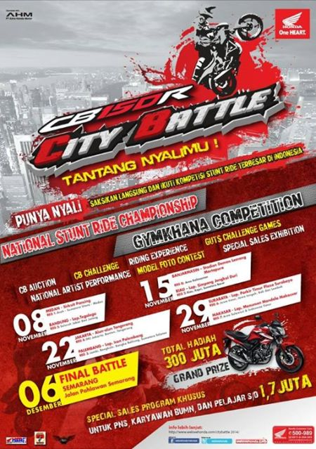 Honda CB150R City battle 2014 gymkhana cmpetition