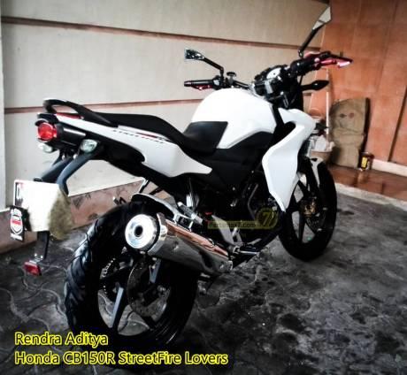 Honda CB150R pakai lampu rem yamaha X-ride spakbor KLX