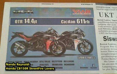 iklan Viar VSR 200 di koran