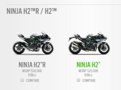 kawasaki ninja H2R and H2 price USA