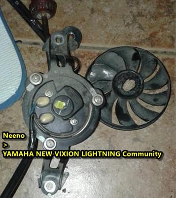 kipas radiator yamaha new vixion meleleh