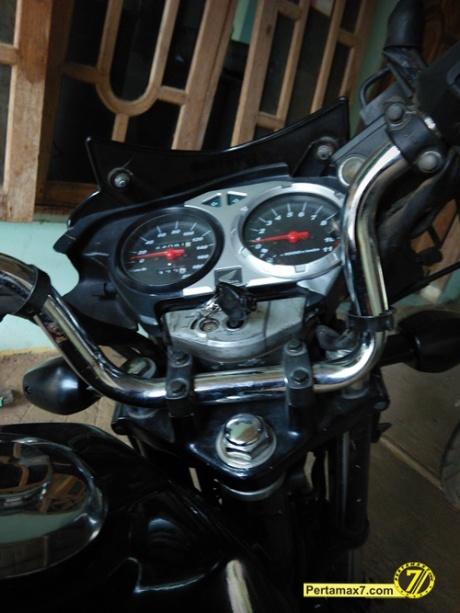 Pasang Stang tiger di Honda Megapro pertamax7 3