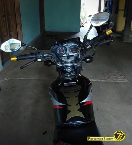Pasang Stang tiger di Honda Megapro pertamax7 4