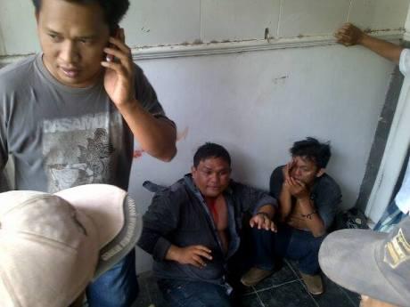 Pencuri barang mobiil babak belur tertangkap tangan di Pasang Kasongan Bantul 4