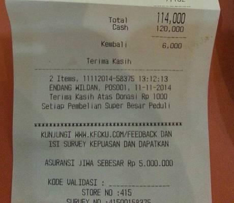 penipuan Cerita Konsumen Tertipu KFC Istana Plaza Bandung dengan modus CD Fariz RM price