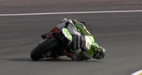 scoot redding hampir head downd di valencia